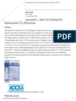 Fenugreek Supercritical CO2 Extraction Optimal Parameters
