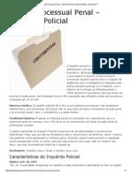 Direito Processual Penal – Inquérito Policial