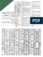 URC22B Universal Remote Control (Instruction Booklet)