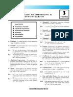 03. Algebraic Expressions Factorization