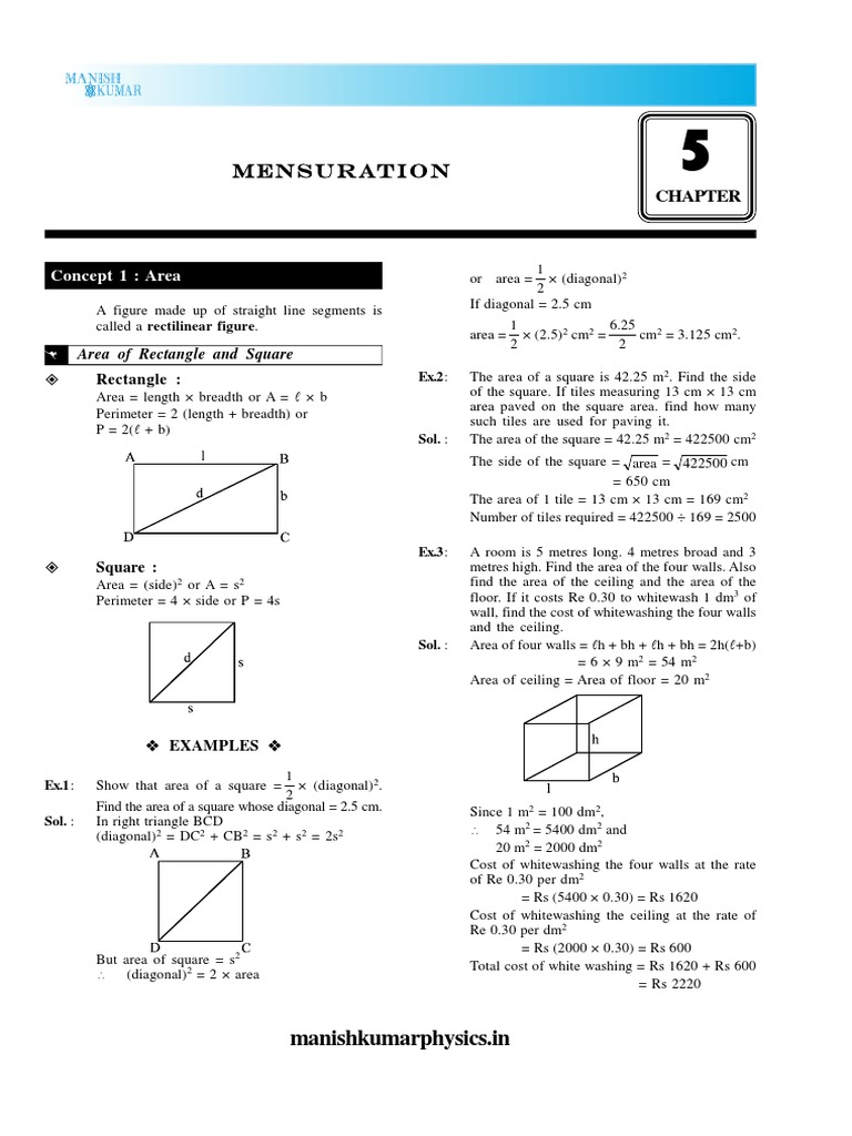 05mensuration Area Trapezium