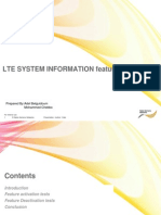LTE System Information Feature