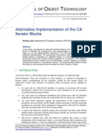 Alternative Implementation of the C# Iterator Blocks