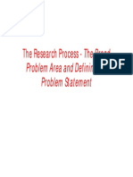 Research Process the Broad Problem Area 1