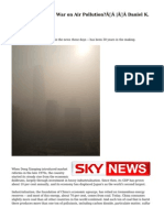 Can China Win the War on Air Pollution?|Daniel K. Gardner