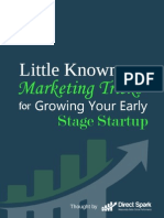 Little Known Marketing Tricks for Growing Your Early Stage Startup