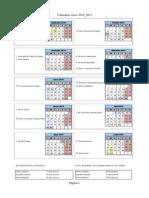 Calendario Escolar Curso 2014 2015