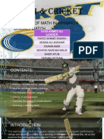 Cricket and the mathematical agenda
