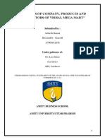 ANALYSIS OF COMPANY, PRODUCTS AND COMPETITORS OF VISHAL MEGA MART