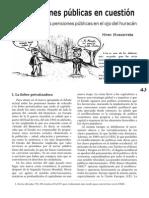 Etxezarreta, Miren - Las Pensiones Publicas en Cuestion I