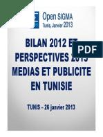 Bilan 2012_medias Et Publicite en Tunisie