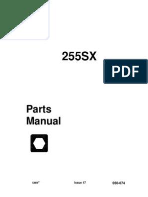 255sx Parts Manual | Elevator | Screw