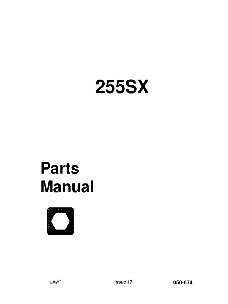 255sx parts manual rh scribd com Ditch Witch SX255 Ditch Witch 255 SX