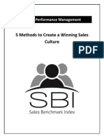 5 Methods to Create a Winning Sales Culture