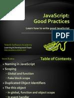 JavaScript Good Practices