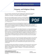 Marriage, Polygamy, and Religious Liberty