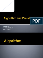 Algorithm and Pseudo Codes