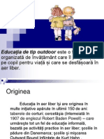 educatia outdoor