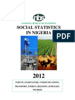 NBS Social_Statistics in Nigeria 2012-Part II (Legislature, Communications, Transportation, Energy, Judiciary & Tourism)