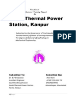 Training Report on Thermal Power Plant,panki kanpur