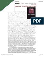 Juan Villoro_ Efectos personales, MONTERROSO_ EL JARDÍN RAZONADO