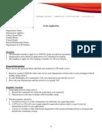 Hunger Grant Application2014