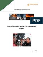 Crisis de Amuay y Acceso a La Informacion Publica