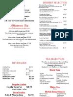 Tea Menu July 2014