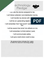 6-8 technology pledge