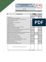 Check List (Planillas) Avance de Obra