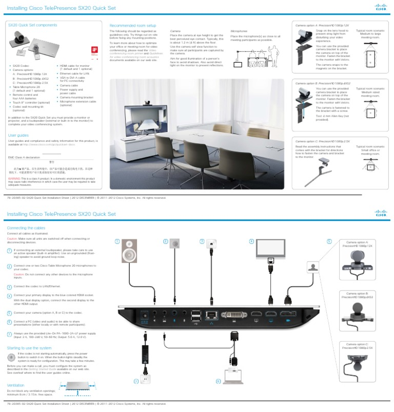 CISCO SX20 MANUAL PDF - 推酷