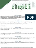 Rezo de Los 16 Meyis de Ifa