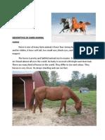Descriptive Horse and Cow Adin