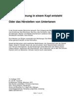 Ernst Alexander Rauter Wie Eine Meinung in Einem Kopf Entsteht Oder Das Herstellen Von Untertanen