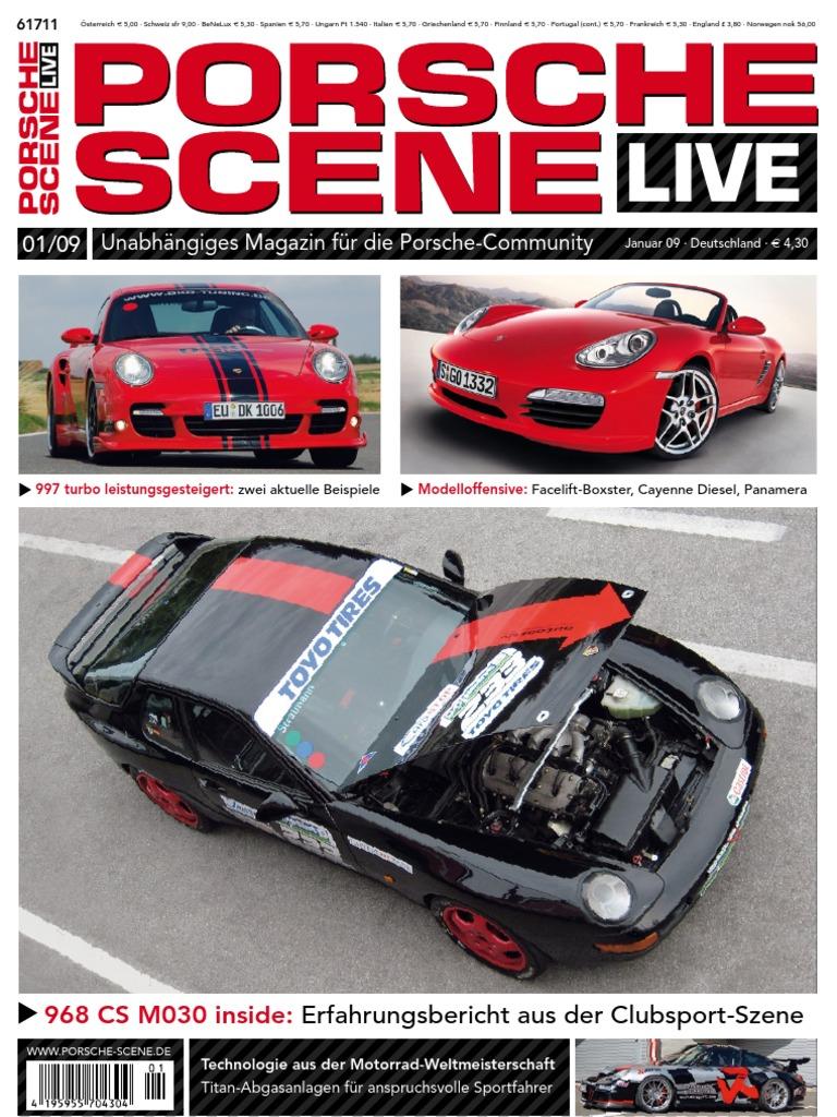 RS Endrohr für Porsche 964 Cup Edelstahl poliert 100mm Durchmesser