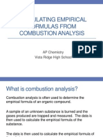 Combustion Analysis PowerPoint AP Chemistry 2013