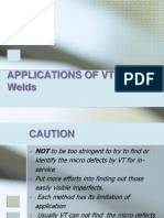 Applications of Vt in Welding