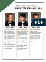 Pennsbury High School Top Scholars 2014