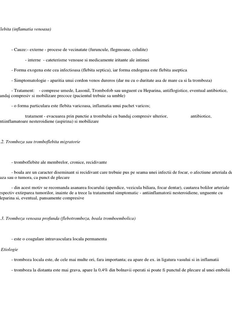patogeneza de etiologie varicoasă)