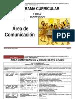 Área Comunicación Integral v Ciclo_6º Rutas