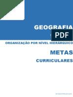 Metas Curriculares Geografia - 9º Ano [organizadas por nível hierárquico]