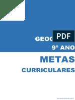 Metas Curriculares Geografia - 9º Ano