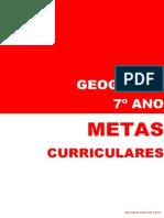 Metas Curriculares Geografia - 7º Ano