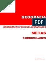 Metas Curriculares Geografia - 7º Ano [organizadas por nível hierárquico]