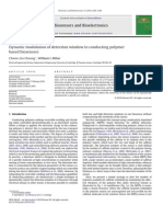 Biosensors and Bioelectronics Volume 25 Issue 10 2010 [Doi 10.1016%2Fj.bios.2010.03.023] Chwee-Lin Choong; William I. Milne -- Dynamic Modulation of Detection Window in Conducting Polymer Based Biosensors
