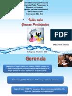 Diapositivas Taller Gerencia Participativa (Erlinda)
