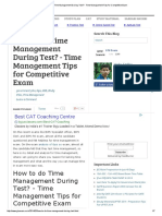 How to Do Time Management During Test_ - Time Management Tips for Competitive Exam