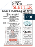 Newsletter July 16th