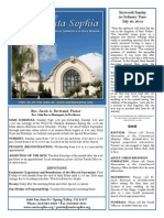 Santa Sophia Bulletin 20 Jul 2014