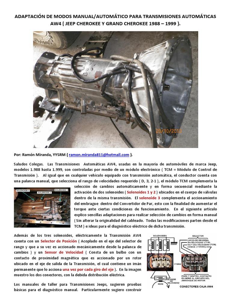 Adaptaci U00f3n De Modo Manual Caja Jeep Aw4